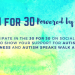 What is the 30for30 Campaign for Autism Awareness?